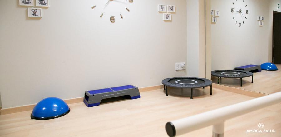 Material ejercicios. Sala Rehabilitación